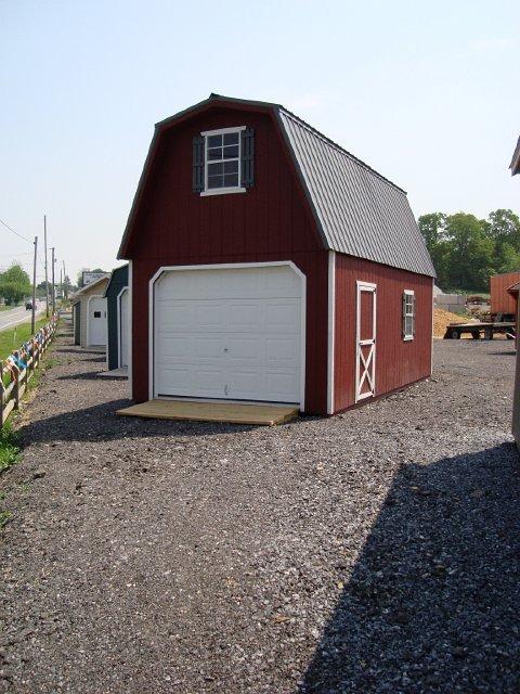 2 story single car garage